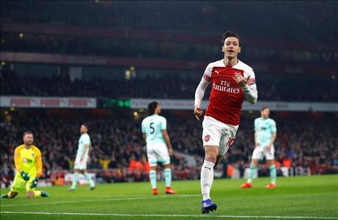Ozil ghi ban cho Arsenal