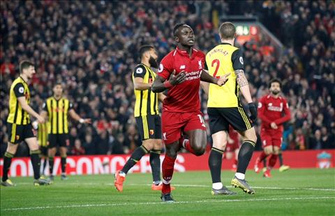Liverpool vs Watford Mane ghi ban