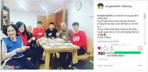 Trung vệ Đình Trọng đón Tết cùng Đại sứ Việt Nam tại Hàn Quốc hình ảnh