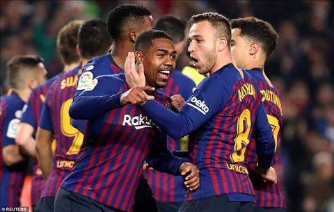 Trong lan da chinh thay Messi, Malcom da choi tot va dem ve ban go cho Barca