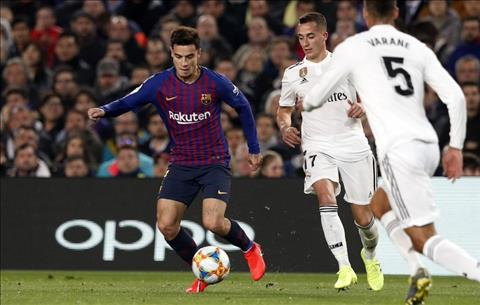 Barca vs Real Coutinho lai gay that vong