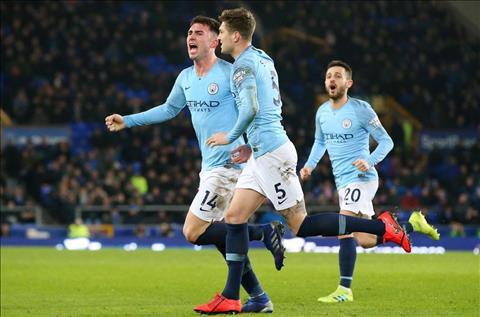 Laporte ghi ban cho Man City
