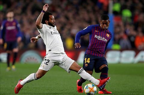 Barca vs Real Malcom va Marcelo