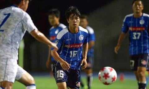 Cong Phuong tung sang Nhat choi bong o J League 2 nhung khong thanh cong do chan thuong. Anh: Mito Hollyhock.