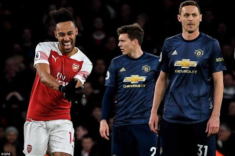 Aubameyang Arsenal 2-0 MU