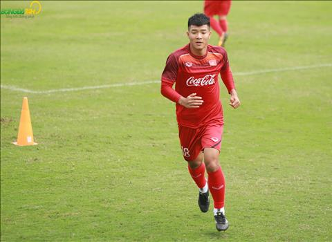 Truoc khi len tap trung, Duc Chinh da phan nao xoa bo hoai nghi bang ban thang vao luoi Quang Nam tai vong 3 V-League 2019.