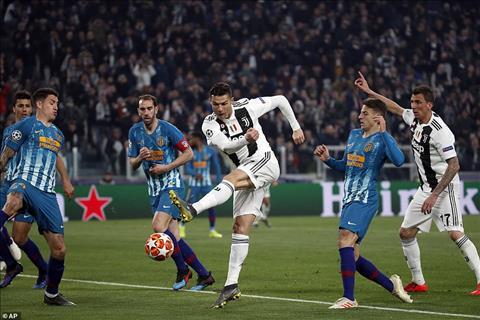 Du hieu qua ro Ronaldo nhung Atletico cung khong the lam gi de hoa giai CR7
