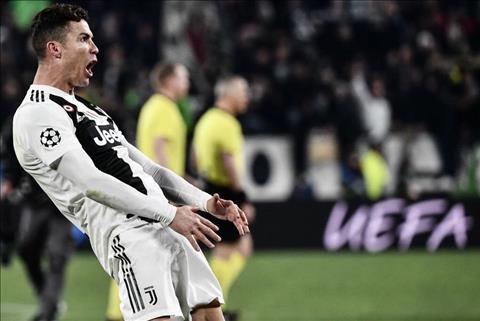 Tình huống Ronaldo ăn mừng giễu cợt HLV Simeone ở cúp C1 hình ảnh