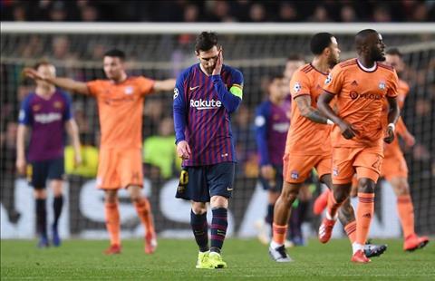 Barca vs Lyon Messi that vong