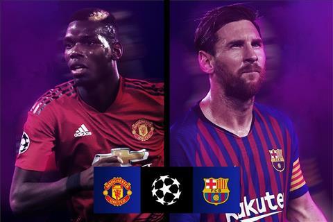MU vs Barca Pogba vs Messi