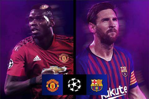 MU vs Barca Pogba vs Messi