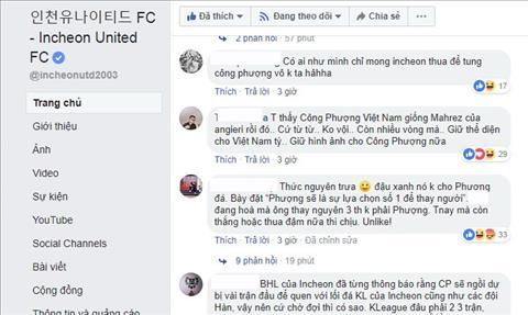 Mot CDV con mong Incheon United bi dan ban de Cong Phuong duoc vao san.
