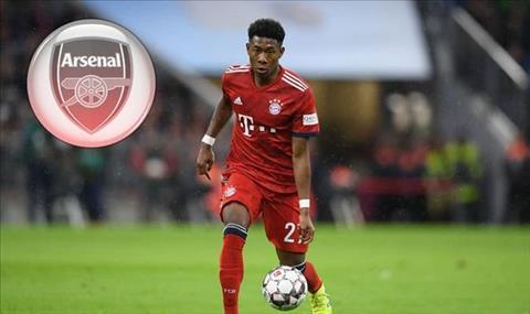 Hậu vệ Alaba của Bayern Munich thả thính Arsenal hình ảnh