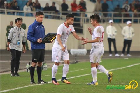 Thanh Binh thay Thai Quy U23 Viet Nam vs U23 Indonesia