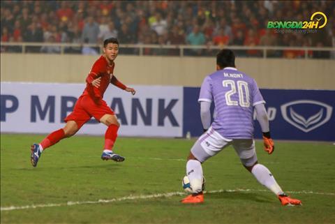 Duc Chinh ghi ban vs U23 Thai Lan