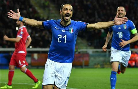 Quagliarella lap cu dup cho Italia