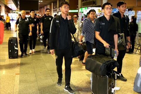 U23 Thai Lan ve nuoc trong lang le