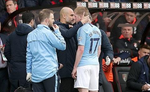 Man City có thể mất De Bruyne vì chấn thương hình ảnh