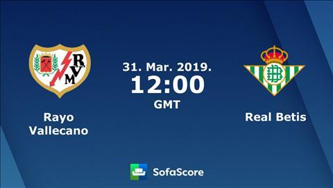 Vallecano vs Betis 19h00 ngày 303 (La Liga 201819) hình ảnh