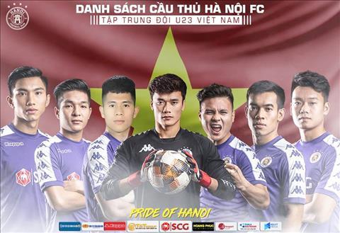 Danh sach tap trung U22 Viet Nam du vong loai U23 chau A 2020 co 7 cau thu thuoc bien che Ha Noi FC.