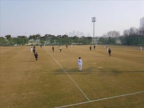 Tiền đạo Công Phượng lập hat-trick trong trận đấu tập của Incheon hình ảnh