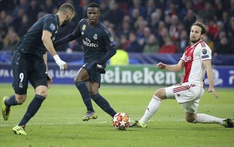 Vinicius kien tao cho Benzema vs Ajax