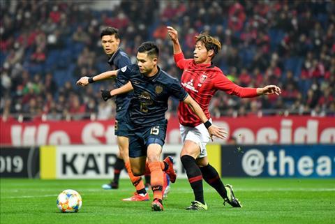 Buriram United khong cuong lai duoc suc manh cua Urawa Reds tren san nha Saitama. Anh: Getty Images.