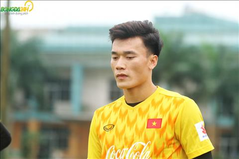 Chùm ảnh Đang chấn thương, thủ môn Bùi Tiến Dũng vẫn tập luyện cùng U23 Việt Nam  hình ảnh 2