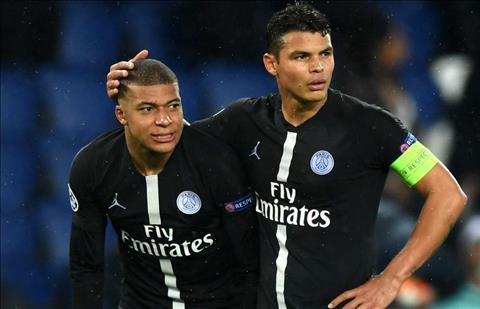Mbappe va Thiago Silva cua PSG