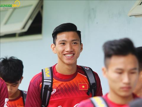 Ngoai Bui Tien Dung, cac cau thu khac cua Ha Noi FC nhu Doan Van Hau cung gop mat cung DT U23 Viet Nam trong buoi tap sang ngay 7/3.