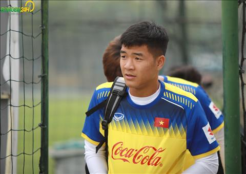 Ha Duc Chinh tap trung cung DT U23 Viet Nam sau khi ghi ban giup SHB Da Nang hoa Quang Nam tai vong 3 V-League 2019.