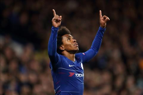 Willian than trong truoc tran luot ve