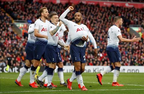 Lucas Moura ghi ban cho Tottenham