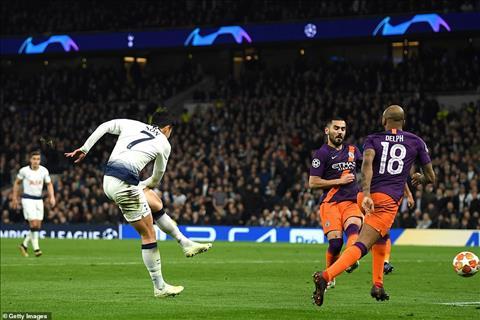 Tottenham 1-0 Man City Son Heung Min