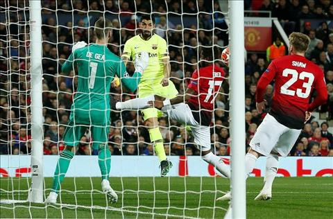 M.U thua Barca 1-0 Suarez danh dau vao Shaw