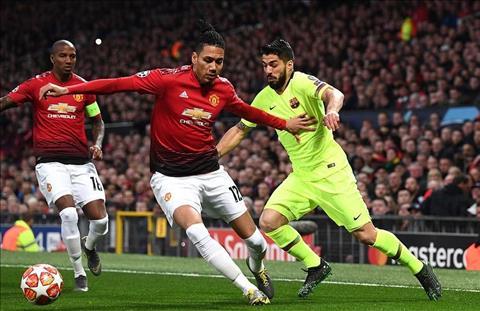 M.U thua Barca 1-0 Suarez va Smalling