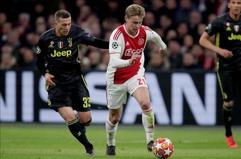 Ajax vs Juve De Jong di bong