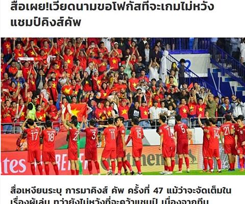 Siam Sport ĐT Việt Nam không có tham vọng vô địch Kings Cup hình ảnh