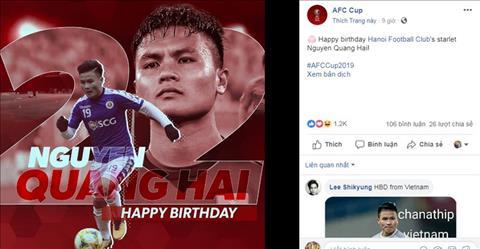 LĐBĐ Châu Á dành tặng món quà bất ngờ tới Quang Hải hình ảnh