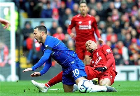Tiền vệ Fabinho gây phẫn nộ với tình huống xì mũi về Hazard hình ảnh