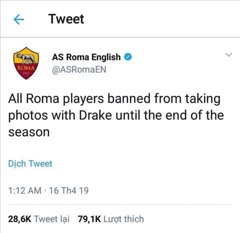 Roma cam chup anh voi ca si Drake