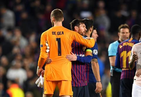 De Gea chuc mung Messi va cac dong doi