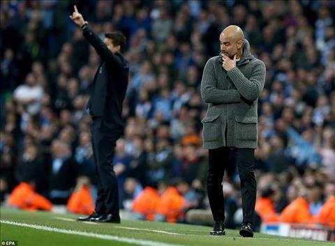 HLV Pep Guardiola trận Man City 4-3 Tottenham không có Messi hình ảnh
