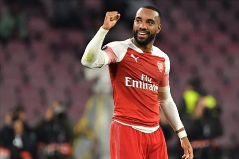 Lacazette ghi ban cho Arsenal