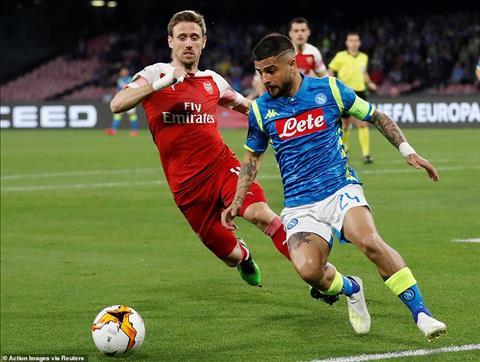 Napoli 0-1 (0-3) Arsenal Thắng nhẹ, Pháo thủ hùng dũng vào bán kết Europa League hình ảnh 4