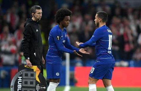 Hazard chan thuong thay bang Willian