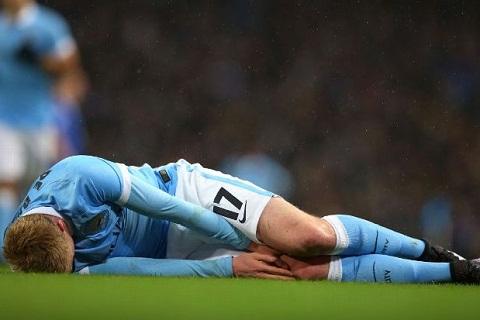 Kevin De Bruyne dính chấn thương sau trận thắng Tottenham hình ảnh