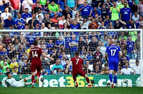Liverpool thang Cardiff 20 Milner da pen