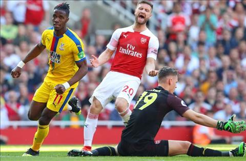 Arsenal thua Palace Mustafi mac sai lam