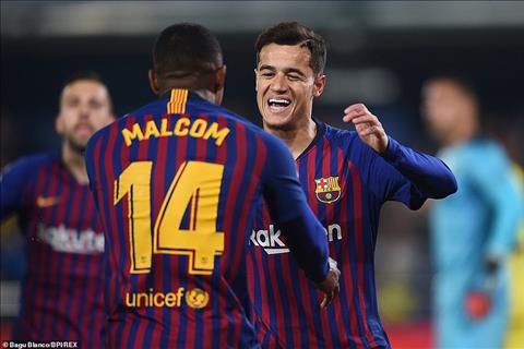 Truoc do, lan luot Coutinho va Malcom dua Barca vuon len dan 2-0